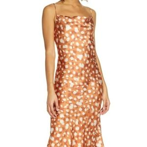 Bardot Animal Spot Slip Dress